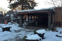 Pet friendly restaurant in Taos, New Mexico: Sabroso Restaurant